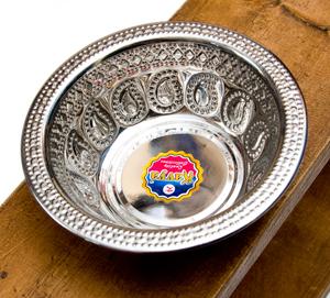 ペイズリーエンボスのアルミ皿【直径:17.5cm】の選択用写真