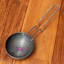 ミニタルカパン - 黒 ノンスティック【24.5cm】インド料理でスパイスをテンパリングする調理器具