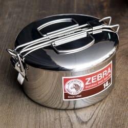 鍋にもなる タイのステンレス弁当箱 ZEBRAブランド - 14cm