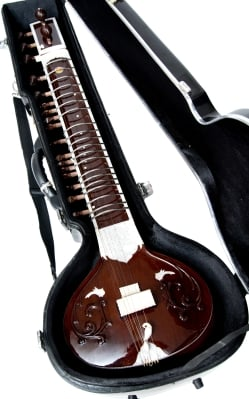 【Kartar Music House社製】シンプルシタールセット(グラスファイバーケース)の個別写真