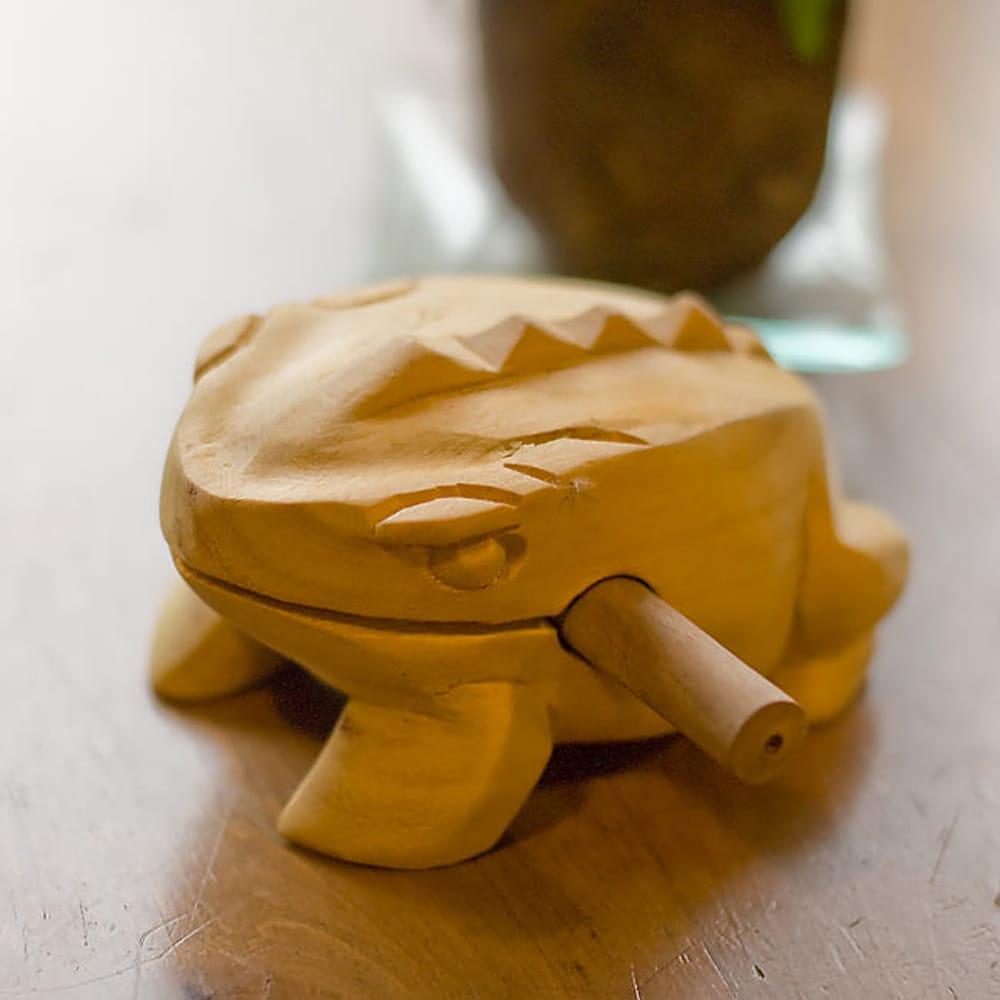 カエル型のギロ -  ナチュラルの個別写真