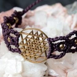 シュリ・ヤントラ マクラメ編みブレスレットの選択用写真