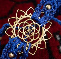 Flower of  Life マクラメ編みブレスレットの個別写真