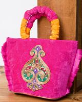インドのゴージャスハンドバッグ - ワンポイントペイズリーの選択用写真