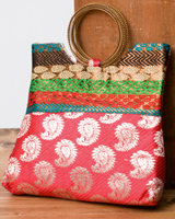 インドのゴージャスハンドバッグ - ペイズリーの個別写真