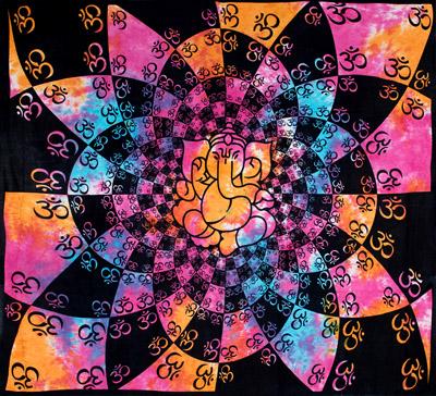 マルチクロス - ホーリーカラーのオーン ガネーシャ【約208cm×約220cm】の個別写真