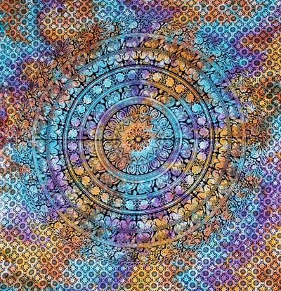 マルチクロス - ホーリーカラーマンダラ【約220cm×約200cm】の個別写真
