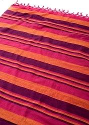 〔260cm×215cm〕カディコットン風マルチクロス - 紫・オレンジ・ピンク系