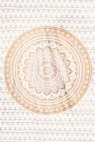 マルチクロス  ホワイト&ゴールドラメマンダラ〔約206cm×約132cm〕