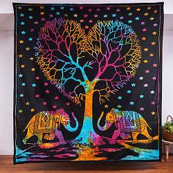 マルチクロス - 生命の樹 タイダイホーリーカラー〔約203cm×約221cm〕