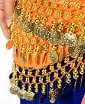 ベリーダンス ヒップスカーフ 150コイン - オレンジ