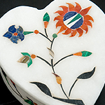 【ハート型】マーブルストーンの小物入れ[約8cm]の個別写真