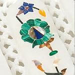 【ジュエル型】マーブルストーンの小物入れ[約8cm]の個別写真