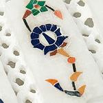 【角形】マーブルストーンの小物入れ[約8cm]の個別写真