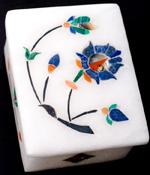 【角型】マーブルストーンの小物入れ[約5.5cm]の個別写真