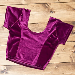 ベルベットのストレッチチョリ - 赤紫の個別写真