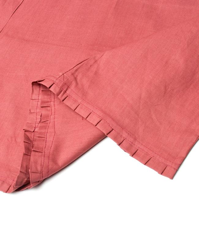 サリーの下に着るペチコート - 赤茶2-裾はこんな感じです。\