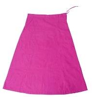 サリーの下に着るペチコート ピンクの個別写真
