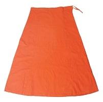 サリーの下に着るペチコート オレンジの個別写真