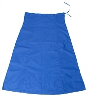 サリーの下に着るペチコート ブルーの個別写真
