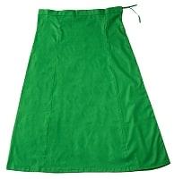 サリーの下に着るペチコート - グリーンの個別写真