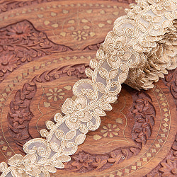 チロリアンテープ メーター売 - 金糸が美しい 更紗模様のゴータ刺繍〔幅:約4.5cm〕 - アラベスク