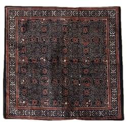 木版染めアジュラックの伝統模様クッションカバー ブラックの選択用写真