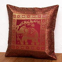 金糸入りのインド伝統柄クッションカバー象の選択用写真