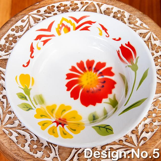 タイのレトロホーロー 花柄飾り皿 RABBIT BRAND〔約20.5cm×約3cm〕の選択用写真