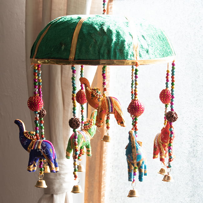 【5色展開】ゾウのハンギング1連 - 23cmの選択用写真
