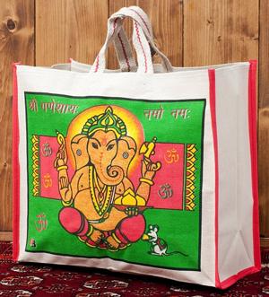 マサラ帆布バッグ[ガネーシャ]の個別写真