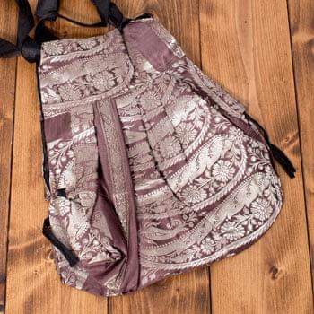 オールドシルクサリーのジッパー付き肩掛けバッグ - 選べる一点物の個別写真