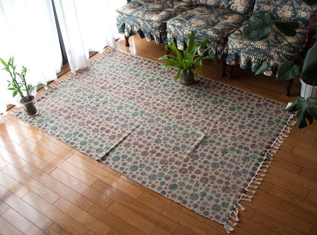 【1点物】インドキリム ジュート・ダリー【188cm x 123cm】の写真