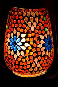 ランタン型 モザイクランプの個別写真
