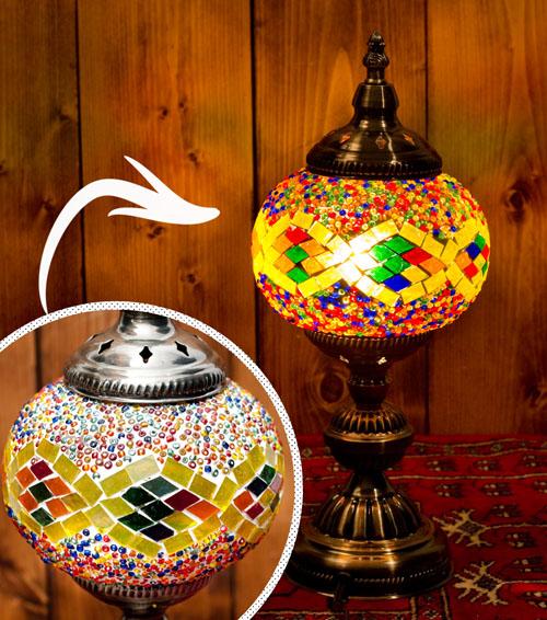 モザイクガラスのアラビアンランプ - 床置の個別写真