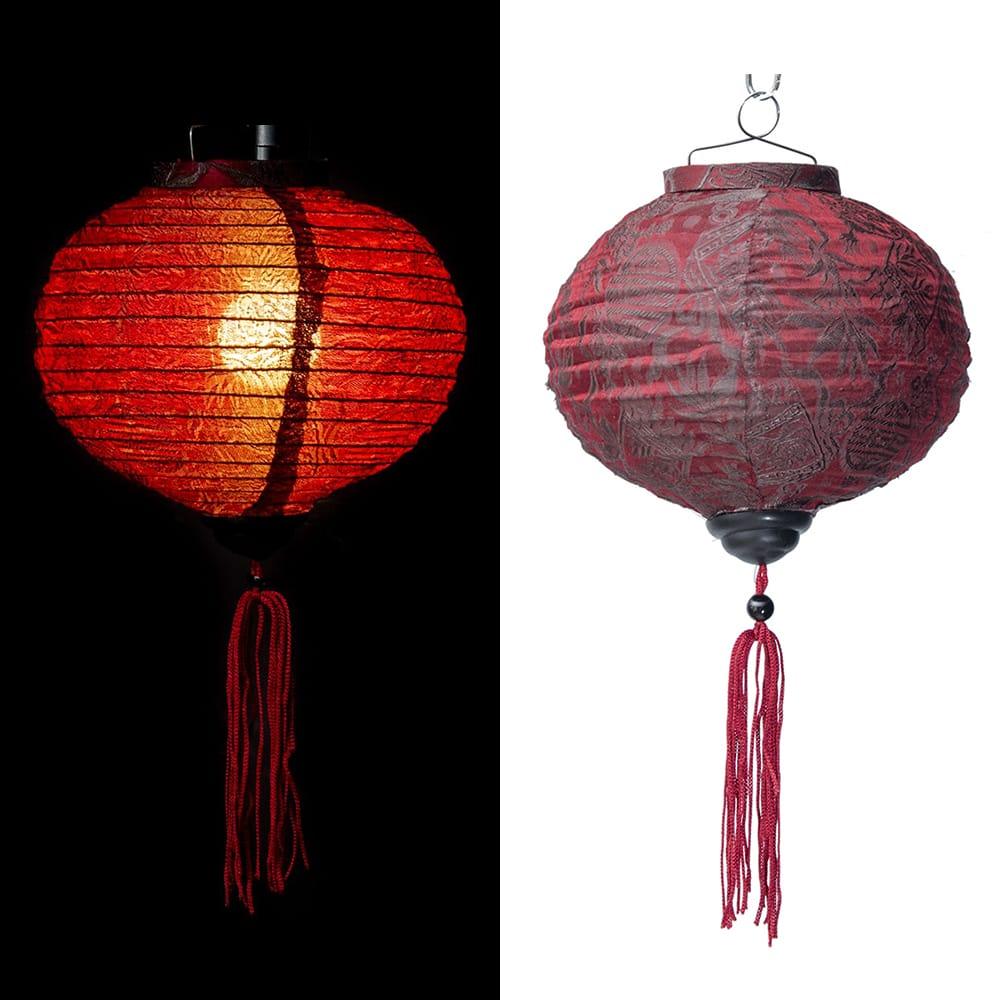 ベトナム伝統のホイアン・ランタン(提灯) -丸型 小の個別写真