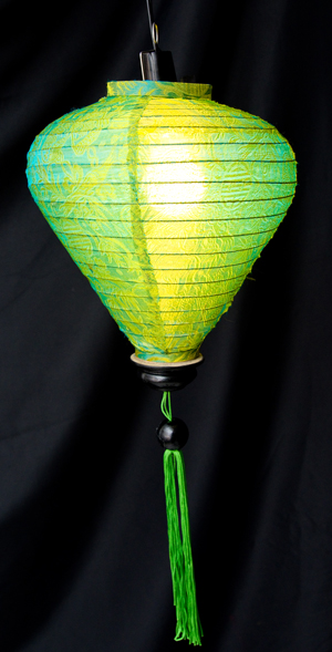 ベトナム伝統のホイアン・ランタン(提灯) -お椀型 大の個別写真