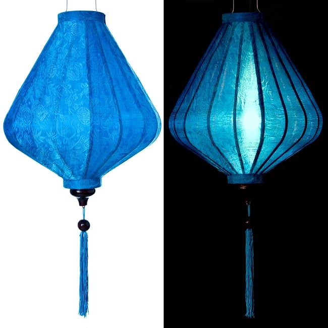 ベトナム伝統のホイアン・ランタン(提灯) - ダイヤ型(大)の選択用写真