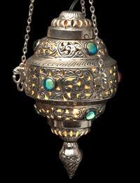 アラビアンナイト風ハーレムランプ-銀色【45cm】の個別写真