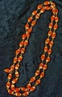 金色の菩提樹の数珠(小粒)- 約80cmほど