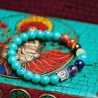 インドの数珠ブレスレット ブッダとストーン