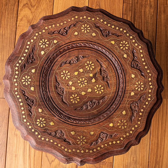 シーシャムウッドのサイドテーブル 【直径:約37cm】の選択用写真