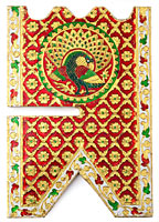ヒンドゥー教の書見台-小【ピーコック】の個別写真