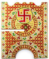 ヒンドゥー教の書見台-大【スワスティカ】の選択用写真