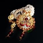 インド伝統アクセサリー ピーコックネックレス&ピアスセットの個別写真