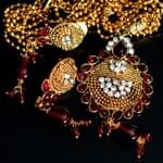 インド伝統アクセサリー フラワーネックレス&ピアスセットの選択用写真