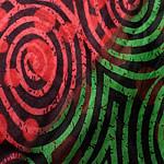 カラフルプリントのワイドパンツの個別写真