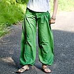 リボンベルトのアラジンパンツの個別写真