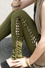 編み上げカッティングトライバルパンツの個別写真