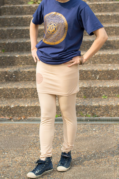 スカート付きマンダラ・ストレッチレギンスの個別写真